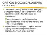 critical biological agents category c