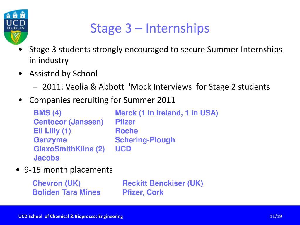 Stage 3 – Internships