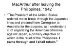 macarthur after leaving the philippines 1942