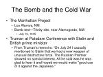 the bomb and the cold war