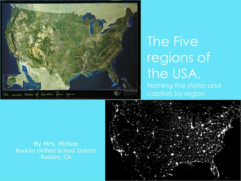 PPT - The Five regions of the USA. Naming the states and capitals by Quia States And Capitals on