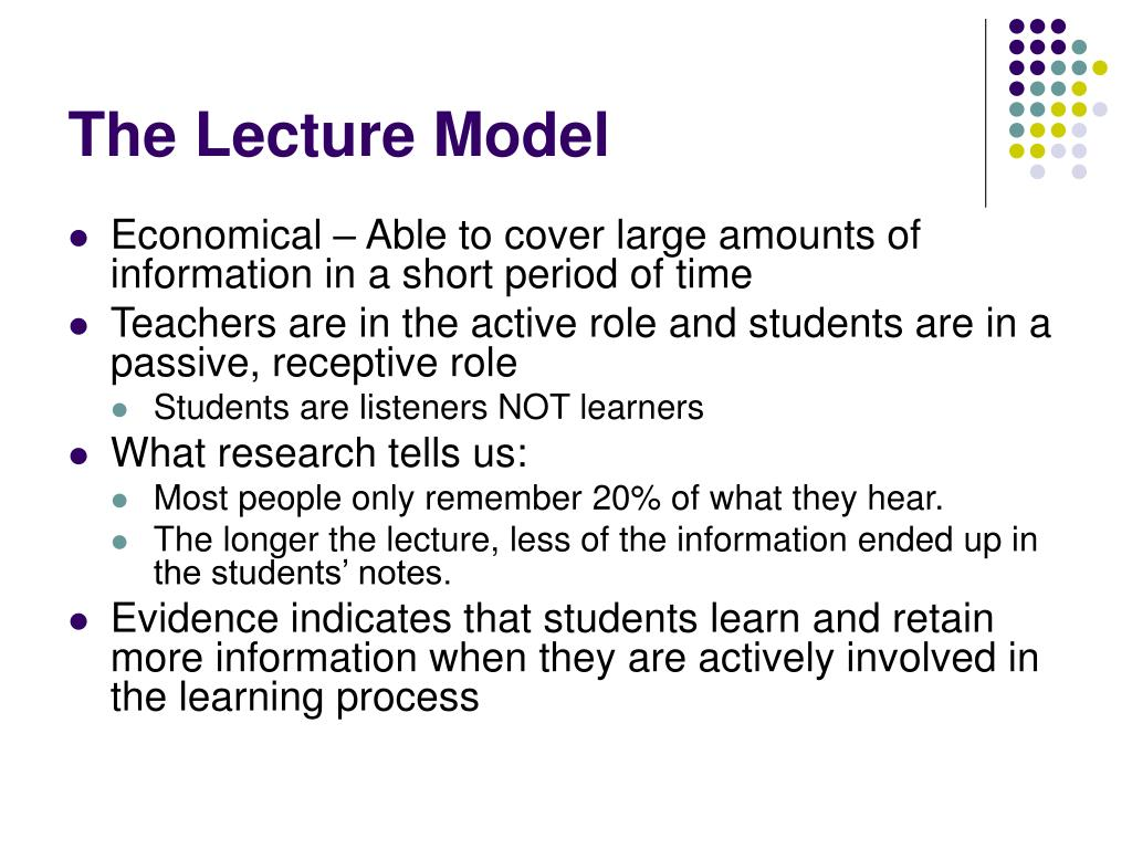The Lecture Model