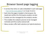 browser based page tagging