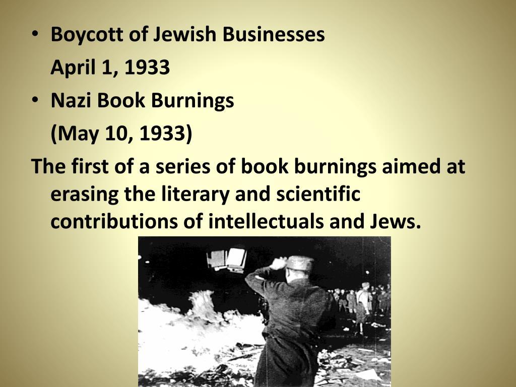 Boycott of Jewish Businesses
