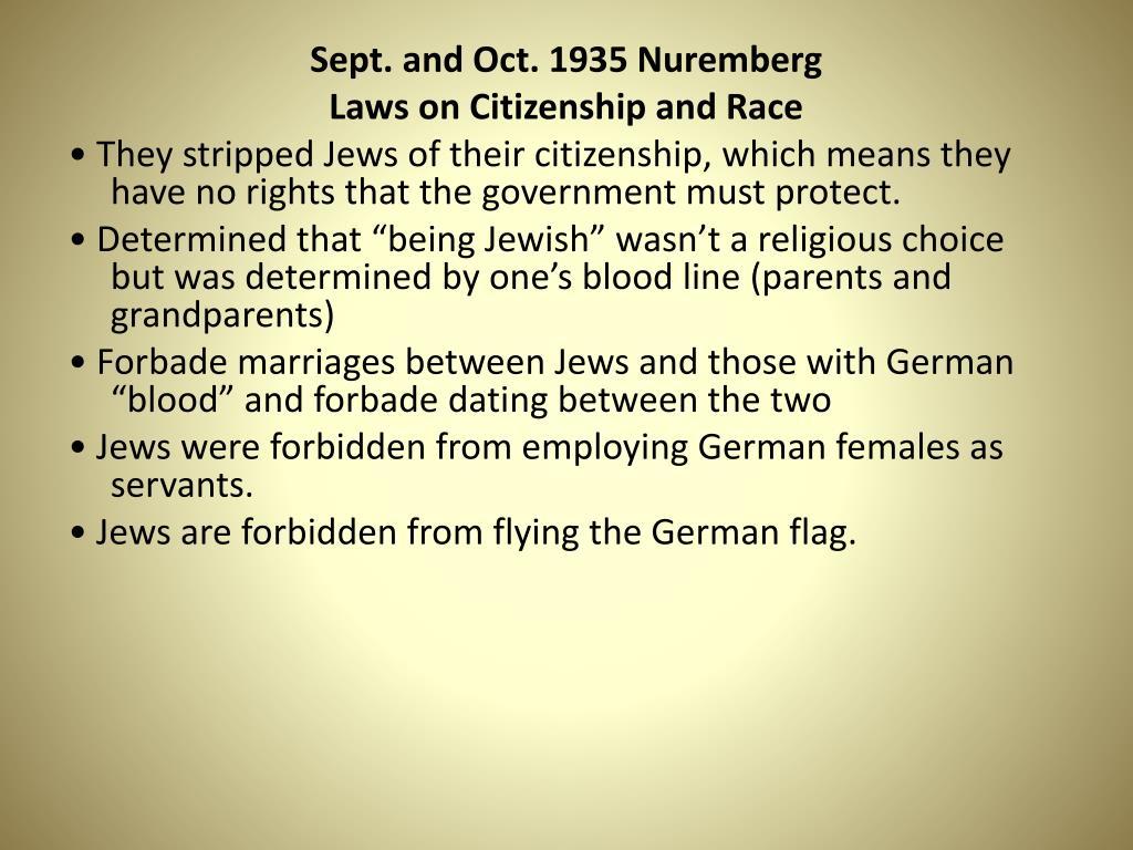 Sept. and Oct. 1935 Nuremberg