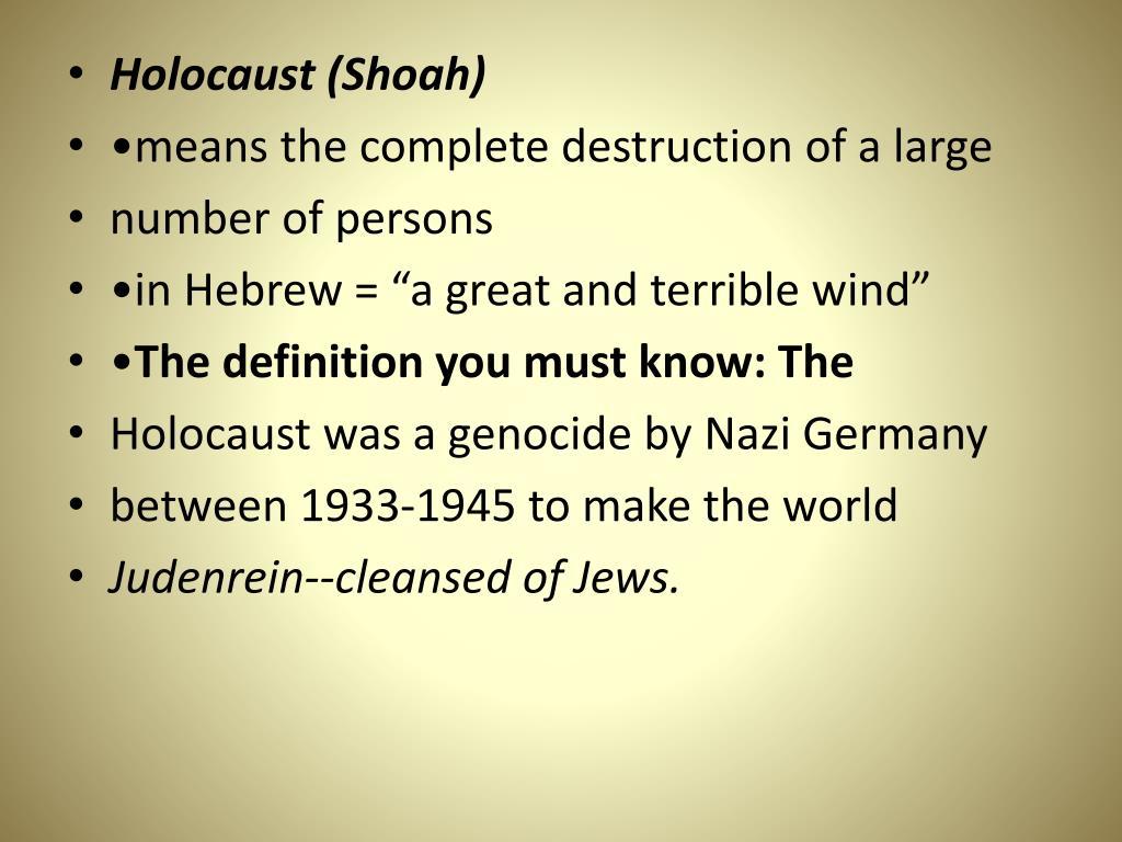 Holocaust (Shoah)