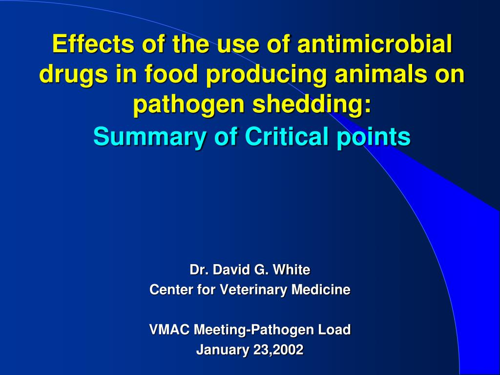 Effects of the use of antimicrobial drugs in food producing animals on pathogen shedding: