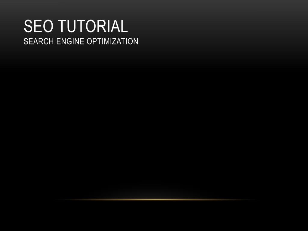 seo tutorial search engine optimization l.