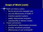 scope of work cont