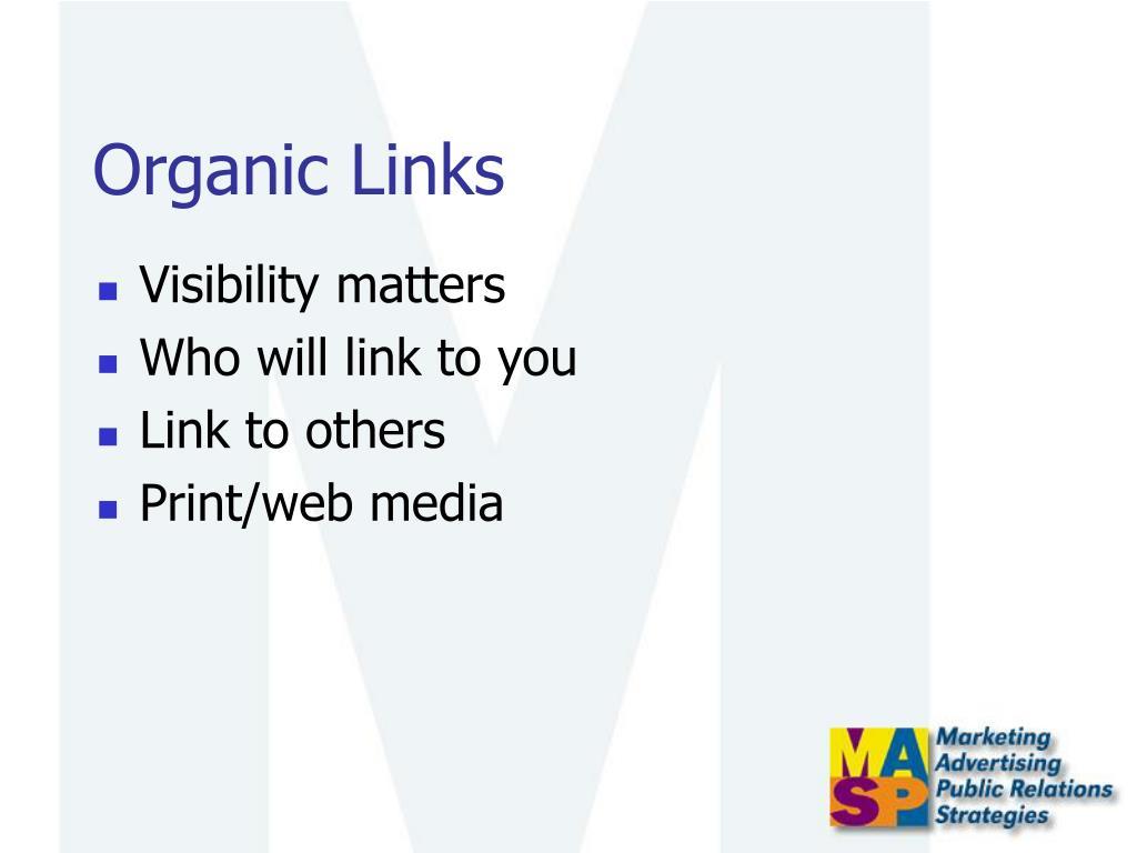 Organic Links