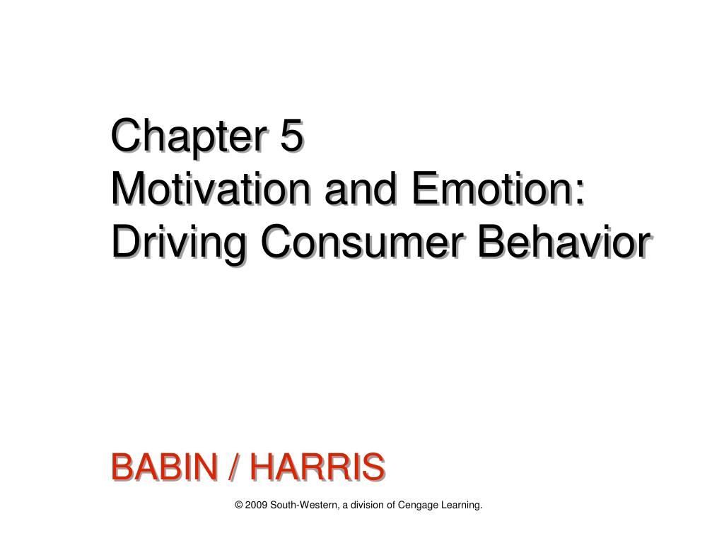 chapter 5 motivation and emotion driving consumer behavior l.