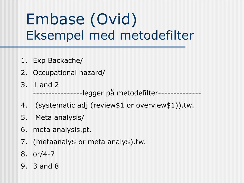Embase (Ovid)