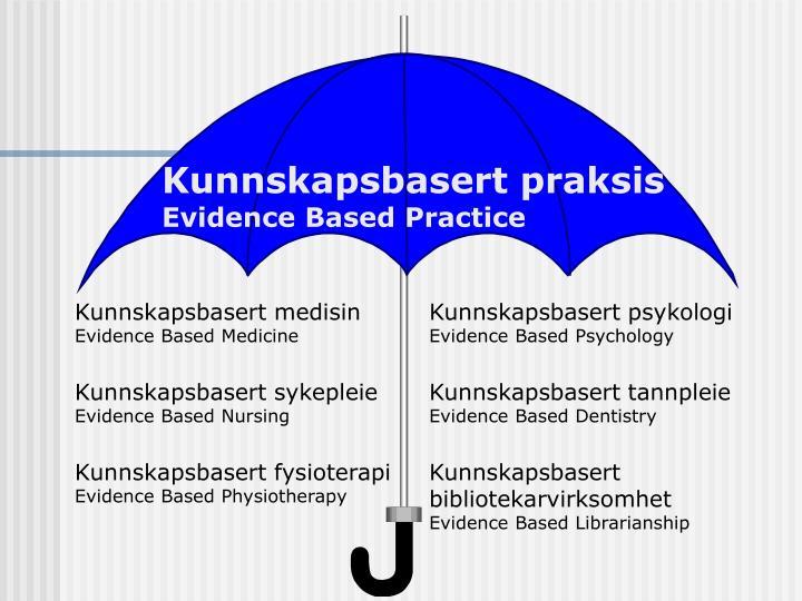 Kunnskapsbasert praksis
