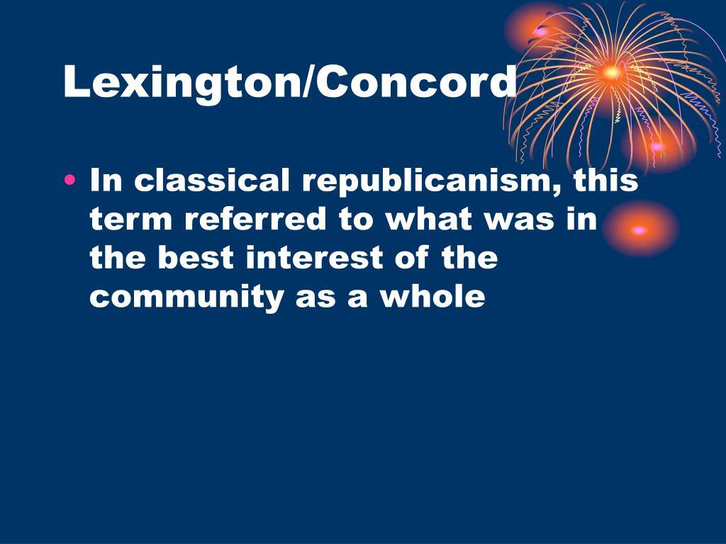 Lexington/Concord