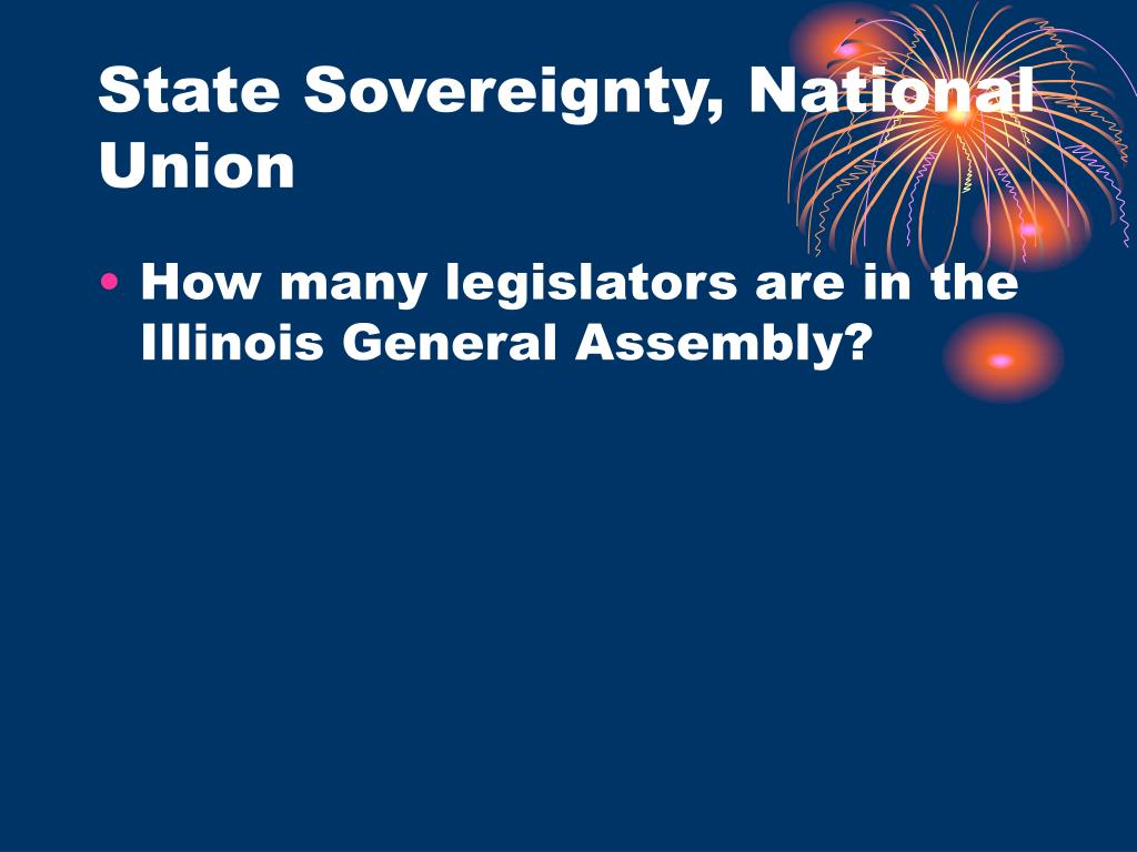 State Sovereignty, National Union