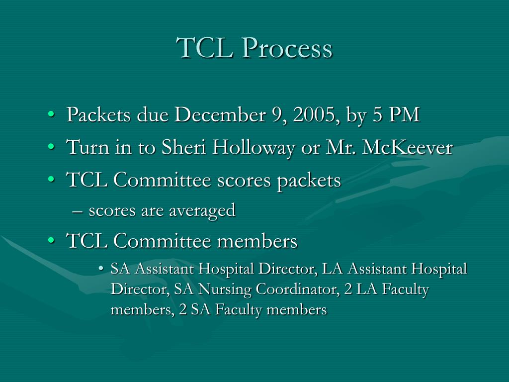 TCL Process