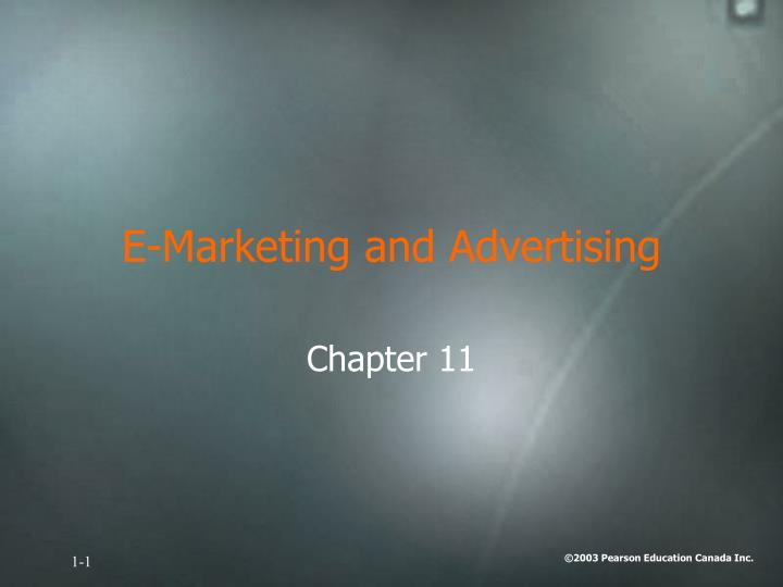 e marketing and advertising n.