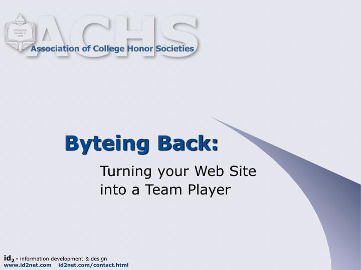 Byteing back