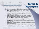 terms acronyms