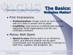 the basics websites matter
