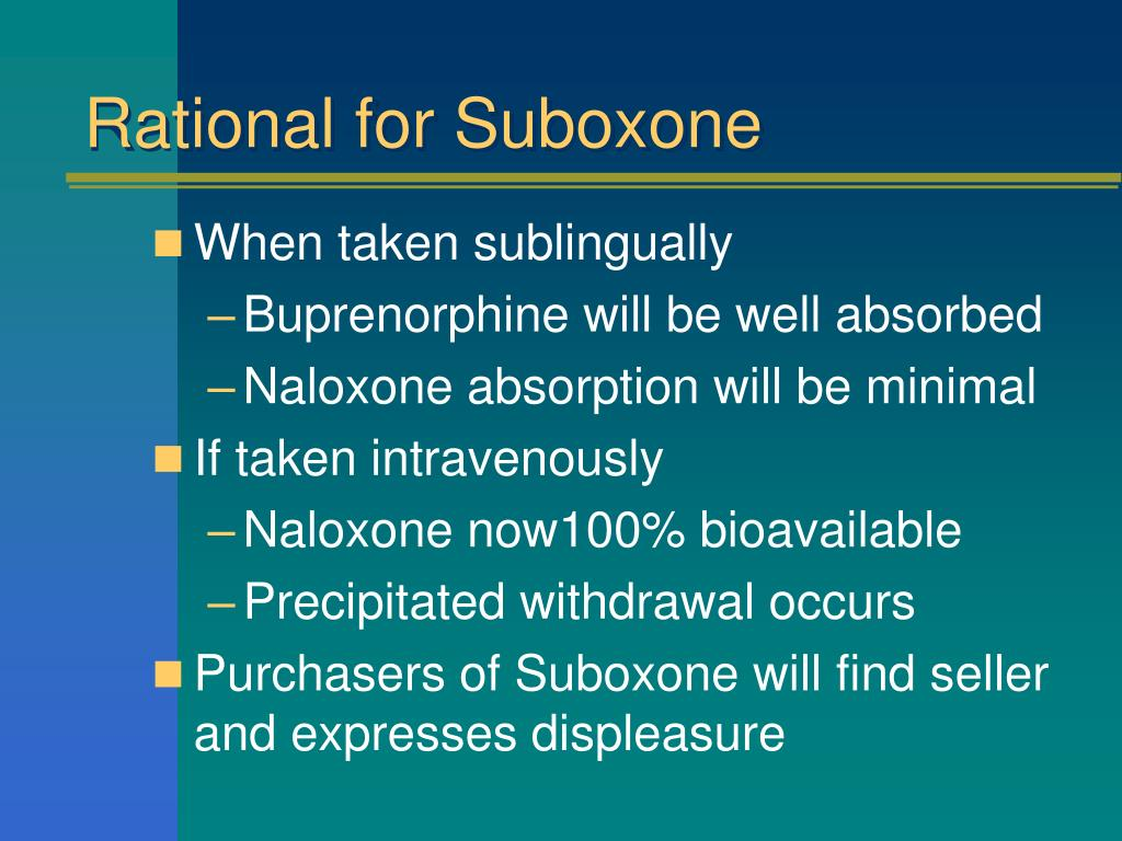 PPT - Buprenorphine and Naloxone: Clinical Pharmacology