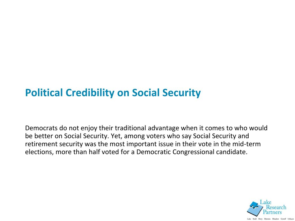 Political Credibility on Social Security
