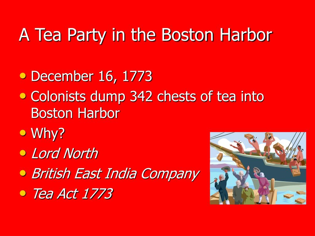 A Tea Party in the Boston Harbor