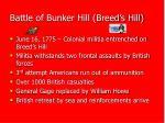 battle of bunker hill breed s hill