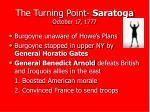 the turning point saratoga october 17 1777