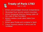 treaty of paris 1783 sept 3 1783