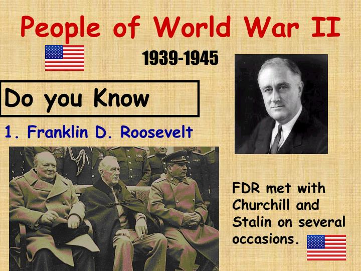 history well known people and events of world war ii World war ii was the deadliest war in world's all of the jews of europe that became known as of major events in american history as well as world.
