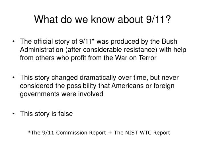 What do we know about 9/11?