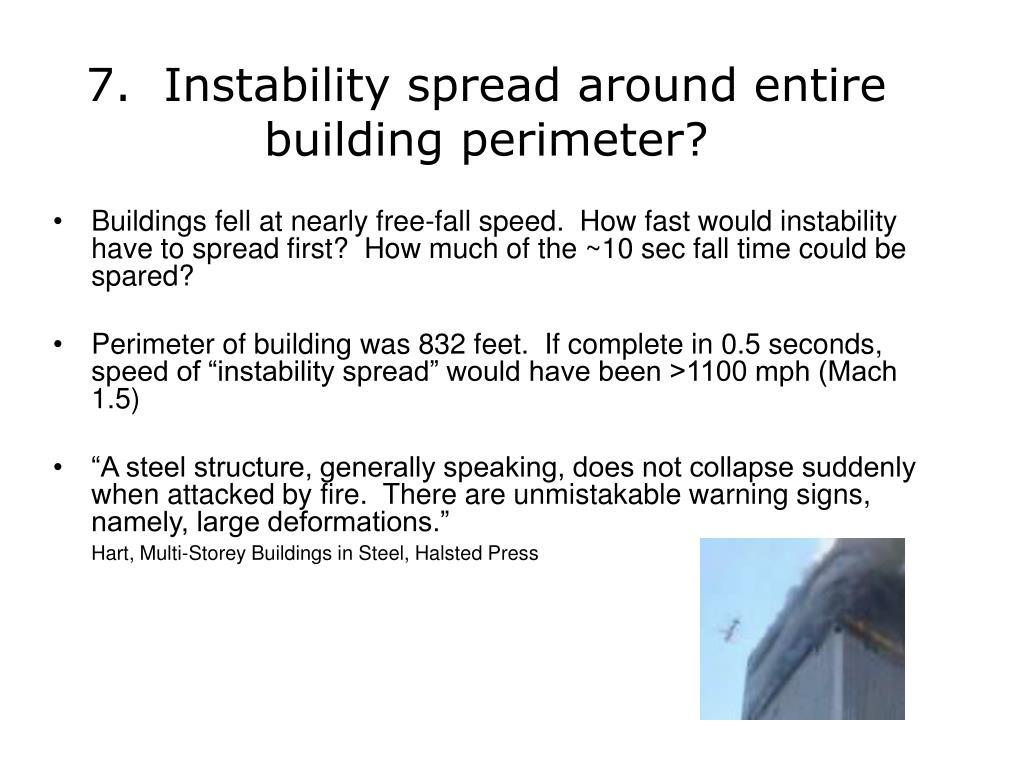 7.  Instability spread around entire building perimeter?
