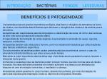 benef cios e patogenidade