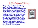 1 the sons of liberty