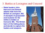 3 battles at lexington and concord