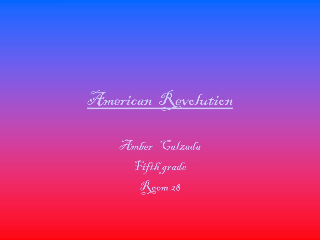 american revolution l.