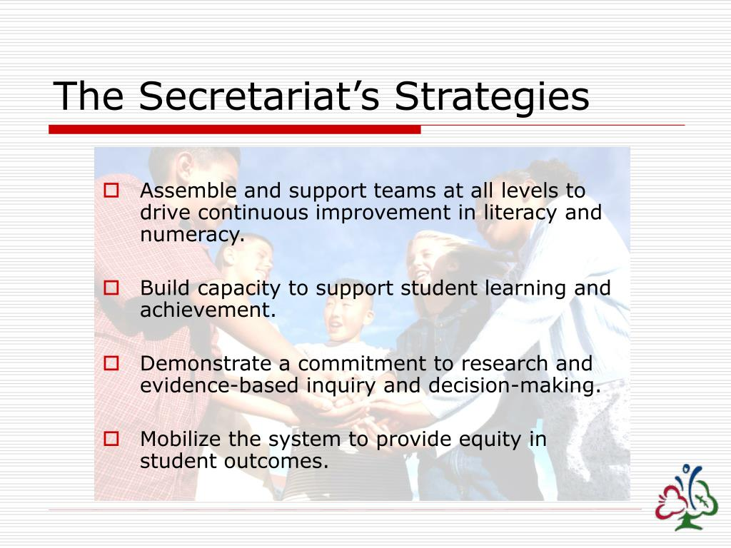 The Secretariat's Strategies