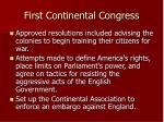 first continental congress28