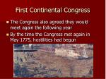 first continental congress29