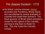 the gaspee incident 1772