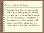 more british actions