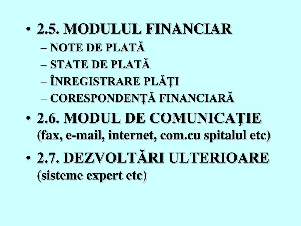 2.5. MODULUL FINANCIAR