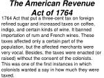 the american revenue act of 1764