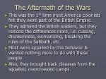 the aftermath of the wars