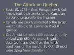 the attack on quebec