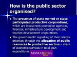 how is the public sector organised
