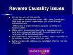 reverse causality issues