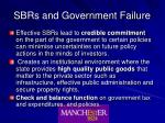 sbrs and government failure