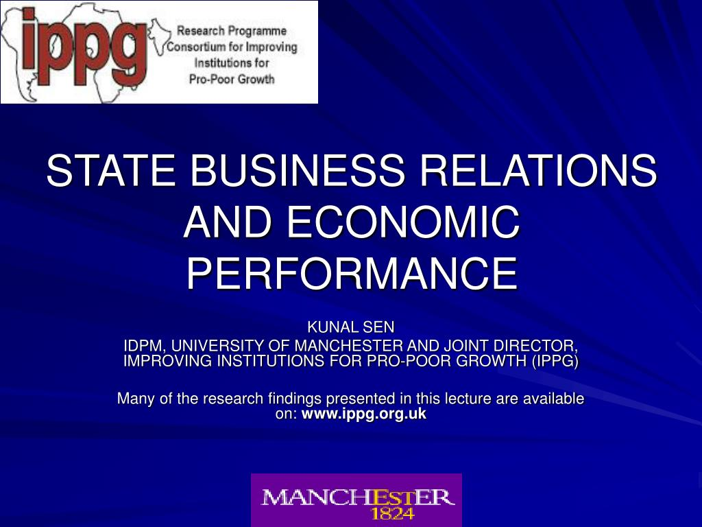 state business relations and economic performance l.